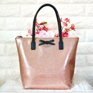 NWT Kate Spade Mavis Street Jeralyn Rose Gold tote